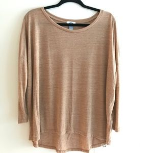 Old Navy Wide Neck Dolman High-Low Top